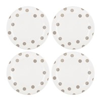 Kate Spade Deco Dot Dinner Plates Beige Set Of 4