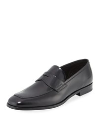 Prada Spazzolato Leather Penny Loafer Black