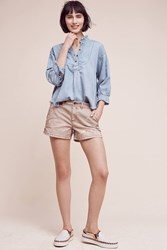 Anthropologie Painted Chino Shorts Taupe