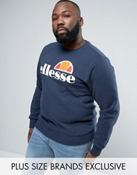 Ellesse Plus Sweatshirt With Classic Logo Navy
