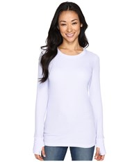 Allen Allen L S Thumbhole Tee Garden Purple Women's Long Sleeve Pullover