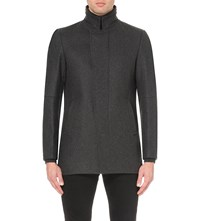 Reiss Lansky Wool Blend Jacket Charcoal