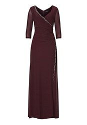 Vera Mont Long Dress With False Wrap Purple