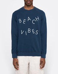 Quality Peoples Beach Vibes Crew Sweatshirt Dark Navy