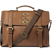 Mulberry Ted Convertible Leather Messenger Bag Brown