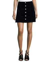 Alexa Chung For Ag Kety Button Front Denim Skirt Dark Navy