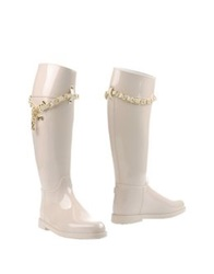 Love Moschino Boots Ivory