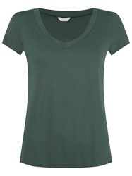 Lygia And Nanny V Neck T Shirt Green
