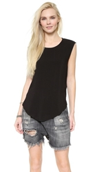 Oak Crossover Drape Back Top Black