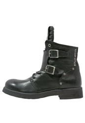Replay Misey Cowboy Biker Boots Schwarz Black
