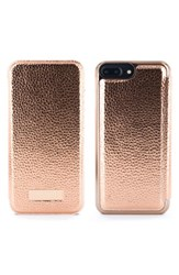 Ted Baker London Sayar Faux Leather Iphone 6 6S 7 8 Plus Mirror Folio Case Pink Rose Gold