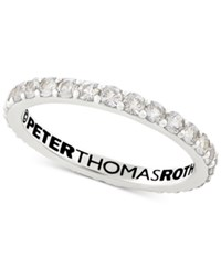 Peter Thomas Roth White Topaz Stacking Band 3 4 Ct. T.W. In Sterling Silver