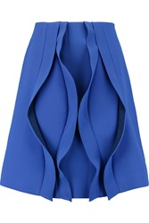 Opening Ceremony Cody Ruffled Woven Mini Skirt Blue