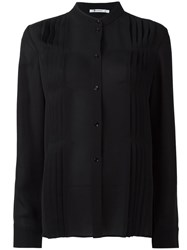 Alexander Wang T By Pleated Blouse Black