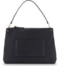Sandro Bianca Leather Tote Navy Blue