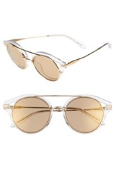 4159518206 Sonix Women s Preston 51Mm Gradient Round Sunglasses Clear Amber Mirror  Clear Amber Mirror