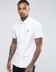 Hype Shirt With Logo In Skinny Fit White