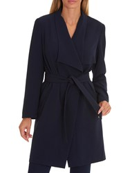 Betty Barclay Unlined Coat Dark Blue Blue