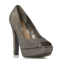 Head Over Heels Cadenza Peep Toe Platform Courts Pewter