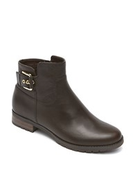 Rockport Tristina Leather Ankle Boots Brown