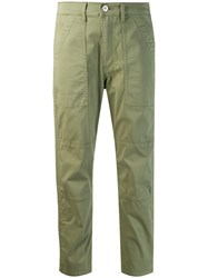 3X1 Simone Cropped Trousers Green