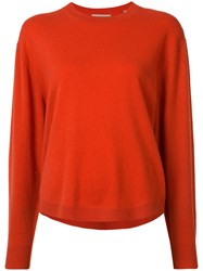 Vince Crew Neck Jumper Yellow Orange