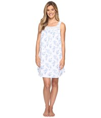 Eileen West Short Chemise White Floral Women's Pajama