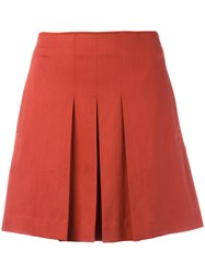 A.P.C. Pleated Mini Skirt Yellow Orange