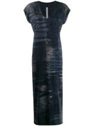 Raquel Allegra Kaftan Tie Dye Dress Blue