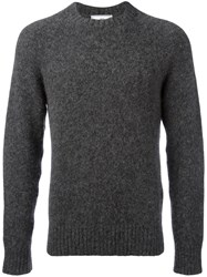 Ami Alexandre Mattiussi Crew Neck Jumper Men Polyamide Wool Alpaca Xl Grey