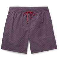 Berluti Mid Length Printed Swim Shorts Navy