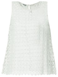 Max And Moi Openwork Lace Vest Green
