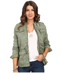 Lucky Brand Soft Military Jacket Vintage Light Olive Women's Coat