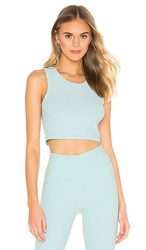 Beyond Yoga Featherweight Top Notch Cropped Tank In Mint. Island Topaz And White