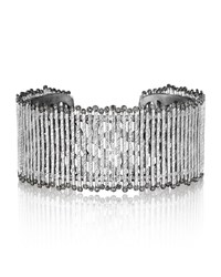 Spring Sterling Silver Cuff With Diamonds Coomi