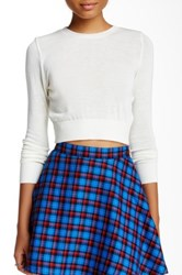 American Apparel Lightweight Crop Sweater White
