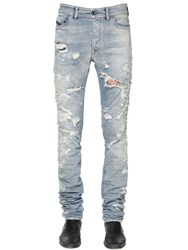 Diesel Black Gold 17Cm Destroyed Stretch Denim Jeans