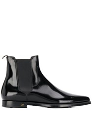 Dolce And Gabbana Pointed Chelsea Boots Black