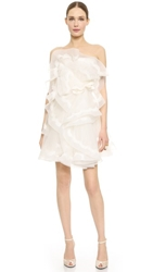 Reem Acra First Love Dress Cream