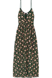Ashish Embellished Embroidered Silk Georgette Maxi Dress Emerald