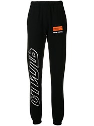 Heron Preston Contrast Logo Track Pants Black