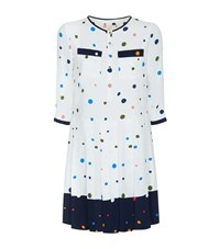 Ted Baker Micks Pleated Polka Dot Dress Female White