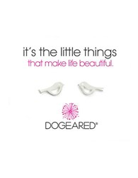 Dogeared Its The Little Things Sterling Silver Bird Stud Earrings