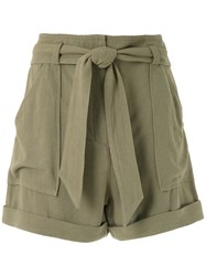 Andrea Marques Patch Pockets Clochard Shorts 60