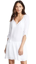 Three Dots Double Gauze Dress White