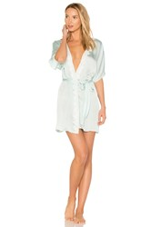 Flora Nikrooz Mira Texture Satin Lace Cover Up Blue