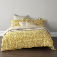 Christy Sumatra Duvet Set Ochre Yellow