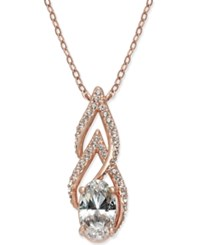 Danori Rose Gold Tone Crystal And Pave Pendant Necklace Created For Macy's