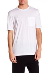 Helmut Lang Oversized Crew Neck Short Sleeve Pocket Tee White