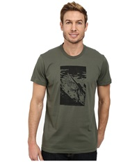 Adidas Outdoor Hiking Mountain Tee Base Green Men's T Shirt Olive